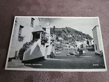 Salmon postcard - Jews House street scene - - Polperro Cornwall