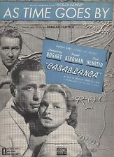 As Time Goes By from the movie Casablanca  US Sheet Music