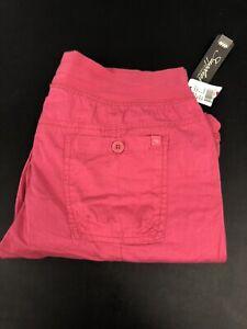 NEW Women Capri Khaki Shorts color (khaki/pink/white/pink-brown