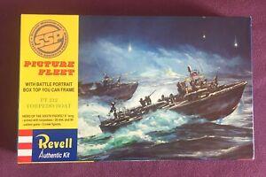 """Revell-Monogram PT 212 TORPEDO BOAT 9"""" long sealed bag open box kit.85-0464"""