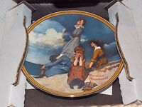 """Edwin M. Knowles China Co. """"Waiting On The Shore"""" Collector Plate w/ COA"""
