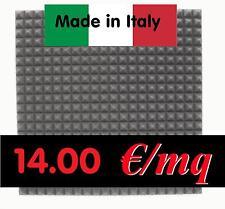 8 pannelli fonoassorbenti anti rumore 100x100x7 cm NERO piramidale registrare