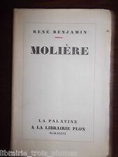 ✒ René BENJAMIN Molière (biographie) 1936 EO alfa envoi
