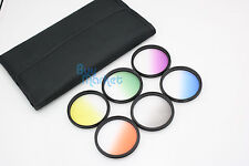 52mm Graduated Orange,Blue,Grey,Green,Purple,Yellow 6 color Filter Set with CASE