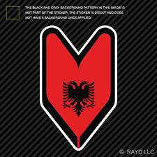 Albanian Driver Badge Sticker Die Cut Decal wakaba leaf soshinoya Albania ALB AL