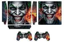 Skin Sticker Cover for PS3 PlayStation 3 Slim and 2 controller skins Joker Q250