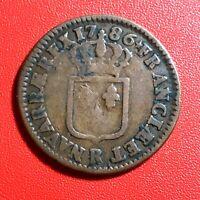#1525 - RARE - Louis XVI Sol 1786 R Orléans Belle qualité - FACTURE