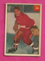 1954-55 PARKHURST # 34 RED WINGS MARCEL PRONOVOST CARD  (INV# C4935)