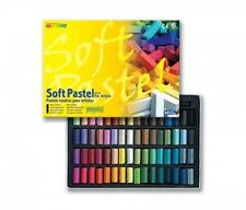 Mungyo Non Toxic Square Chalk, Soft Pastel, 64 Pack, Assorted Colors