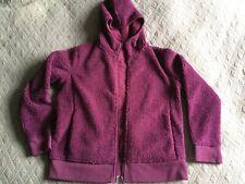 UNIQLO purple/pink teddy furry hoody, sz XL (Japan), pile fleece, magenta, VGC