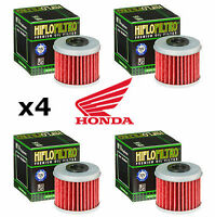 Honda x4 Pack HiFlo Oil Filters HF116 CRF450R CRF 450 R CRF450 2011 2012 2013