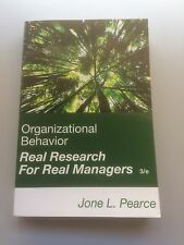 Organizational Behavior Research for Real Managers 3rd Edition