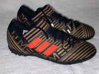 ADIDAS Nemeziz Messi Tango 17.3 TF Black Gold Turf Soccer Cleats Mens Youth 5.5