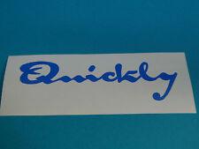 NSU Quickly Autocollant Décalcomanie Logo Sticker Bleu