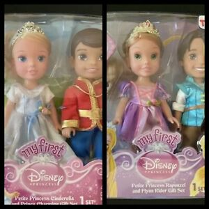My First Disney Princess Petite Gift Set Rapunzel Flynn Cinderella Charming 6""