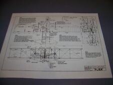 VINTAGE.WRIGHT BROTHERS ORIGINAL FLIER..3-VIEWS/MEASUREMENTS/NOTES..RARE! (893F)