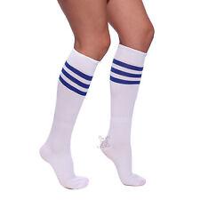 Athletic Striped Sport Cheerleader Team Tube Socks Cheer Stockings Knitwear