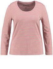 Samoon Longsleeve Shirt by Gerry Weber Neu Ringel rose-weiß Damen Gr.52