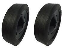 "2 x 200mm.(Approx.8"") Black Polypropylene Wheels. Garden Furniture/Barbeque*"