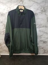 Cutter & Buck Green Pullover Golf Windbreaker 1/4 Zip Mens XL EUC  #19