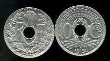 FRANCE   FRANCIA   10 centimes  1935  LINDAUER   ( SUP )