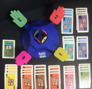 Vintage 1964 HANDS DOWN Game Ideal Toys Slam-O-Matic and Game Cards