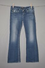 SILVER JEANS $89 Pioneer jeweled Boot cut Denim Jean Size 28