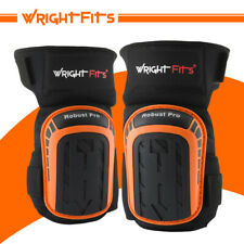 WrightFits Robust Pro Knee Pads For Work - Heavy Duty Gel Cushion Knee Safety