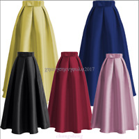 Long Women Bow Skirts Party Skirt Ball Gown Muslim Vintage TUTU Skirt