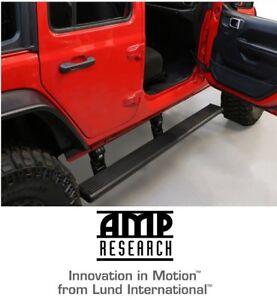 Amp Research Running Board Power Steps for 18-21 Jeep Wrangler JLU 4 Door