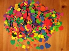 100's Huge Lot Assorted 3D Craft Foam Shapes different sizes & colors must glue