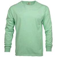 Comfort Colors Men's Adult Long Sleeve Tee, Style 6014,, Island Reef, Size Large