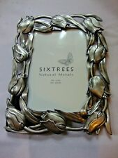 NEW Six Trees Natural Metals 4x6 Photos London New York Picture Frame Silver