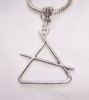 Oversized Triangle Musical Instrument Music Dangle Charm for Slide Bracelets