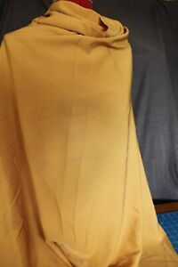 Remnant Crepe Fabric 2.00mts x 112cm  - Mustard R460