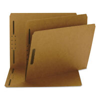 Smead Kraft K Style Fastener Folders Straight Cut Top Tab Letter Brown 50/Box