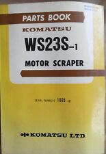 Komatsu Motor Spachtel WS 23 S-1 Ersatzteilkatalog