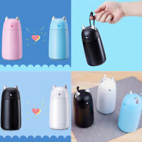 Kids Thermos Cup Cartoon Stainless Steel Vacuum Flask Cute Cat Water Bottle Mugs