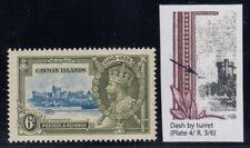 "Cayman Islands, SG 110i, MHR ""Dash by Turret"" variety"