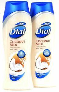 Lot of 6 Dial coconut milk moisturizing body wash 16 oz Discontinued