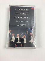Carreras Domingo Pavarotti in Concert Mehta Audio Cassette Tape New Sealed