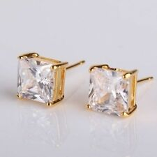 Stud Sapphire Yellow Gold Filled Fashion Earrings
