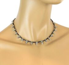 Cone Spike Wire Necklace Punk Gothic Steampunk Rockabilly Cosplay