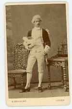 PHOTO CDV - un homme en costume pose pour BRUINING - LEIDEN HOLLAND NEDERLANDS