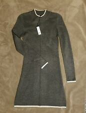 Romeo + Juliet Couture Heather Gray Knit Sweater Long Sleeve Dress M Fit 2 Flare