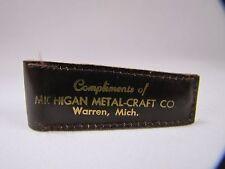 Vintage Michigan Metal Craft Co Promo Nail Clippers w Case Warren MI Advertising