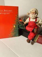 """Clothtique Possible Dreams Santa, 713089, """"Santa Shelf Sitter""""; w/ original box"""