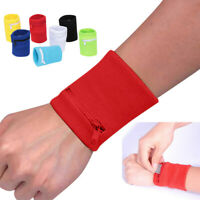 Wrist Wallet Pouch Band Zipper Running Travel Gym Cycling Sport Bag Arm Band