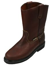 Men's Best Work Boots Pull On Leather oil water slip resistant Size 7-13