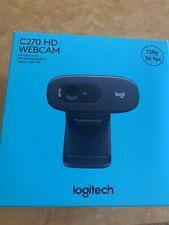 Logitech C270 720p Webcam - Black - New - Ready To Ship